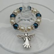 Angel Wine Glass Charm - Full Sparkle Style
